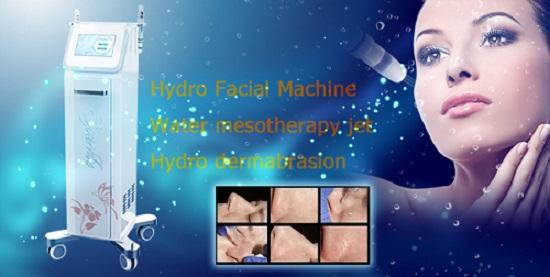 Hydra Facial Water Peeling Aqua Peel Machine / Water Mesotherapy Jet Machine